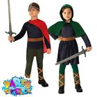 Kids Saxon Costume Girls Boys Anglo Warrior World Book Day Fancy Dress Outfit