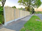 Wooden garden fence panels prestige arched top and flat top heavy duty pressure