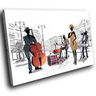Black White Orange Jazz Music Band Modern Canvas Wall Art Picture Prints