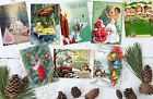 Set of 8 Vintage Retro Santa 50 s/60 s Style Christmas ATC Tags/Toppers