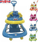 Baby Walker First Step Push Along Bouncer Music Ride On Car Melody Girls Boys UK