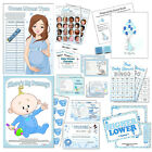 BLUE BABY SHOWER GAMES- Boy, Bingo, Labour, Mummy, Guess, Quiz, Tummy, Winner