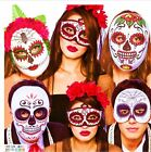 Halloween Mexican DAY OF THE DEAD Masks Zombie Sugar Skull Fancy Dress Accessory