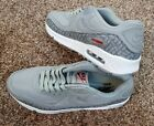 NIKE AIR MAX 90 PREMIUM ESSENTIAL RIPSTOP GREY RED WHITE MEN S TRAINERS UK SIZES