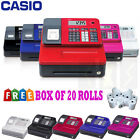NEW CASIO ELECTRONIC SE-G1 CASH REGISTER SHOP TILL THERMAL PRINTER 20 FREE ROLLS