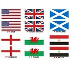 Flags of The World, Sticker / Decal, Small Medium Large With or Without Text