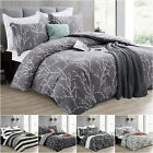 Duvet Cover with Pillow Case Quilt Cover Bedding Set Single Double King Size UK