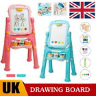 Child Magnetic Drawing Board Easel Double Sided Folding Kids Doodle Sketchpad UK