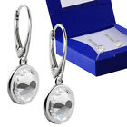 925 Sterling Silver Drop Dangle Earrings Leverback 7mm Crystals from Swarovski®