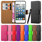 Apple iPod Touch 5th & 6th Gen Wallet Flip Book [Stand View]Premium Case Cover
