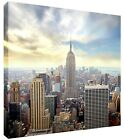 New York City Skyline Canvas Wall Art Square Picture