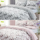 Dreamscene Marble Duvet Cover Pillowcase Bedding Set Single Double King - Grey