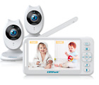 Baby Monitor 1/2 Cameras Digital Video Audio Camera Two-Way Talk IR Night Vision
