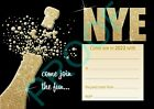 NEW YEARS EVE PARTY Pack of 10 gold champagne adult invites INVITATIONS