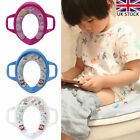 Baby Soft Padded Potty Training Toilet Seat W/ Safety Handles Toddler Kids Child