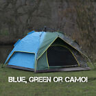 Large 2-3 Man Person Automatic Pop Up Tent Double Layer Festival Camping Fishing