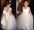 UK Kids Baby Princess Flower Girl Dress Party Lace Wedding Bridesmaid Dresses