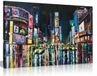 New York Oil Painting Times Square Canvas Wall Art Picture Print
