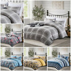 Reversible Duvet Quilt Cover Bedding Set Single Double King Size With Pillowcase