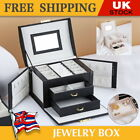 Large Jewellery Display Box Earing Ring Necklace Storage Portable Travel Case