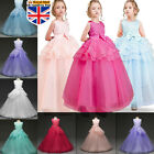 Flower Girl Dress Princess Party Bridesmaid Wedding Formal Kid Gown Long Dresses