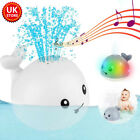 Baby Bath Toys Whale Water Spray Toy LED Electric Induction Sprinkler Kid Gift