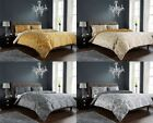 Royal Damask Duvet Quilt Cover Set, Bed Linen Double King Size, Grey Gold