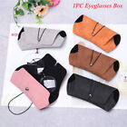 PU Leather Hard Eye Glasses Glasses Case Fashion Eyewear Protector
