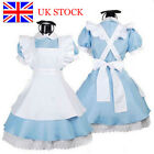 *UK Stock* Adult Alice In Wonderland Costume Fancy Dress Book Day Cosplay Blue