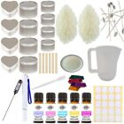 Candle Making Kit - Complete Set Sweet Soy Wax Melt Fragrance Glitter Colour