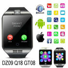 Bluetooth Smart Wrist Watch Phone Mate Fit For Android iOS iPhone GPRS SIM Gifts