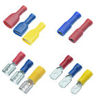 Red / Blue Yellow Insulated Crimp Spade Terminals Electrical Connectors
