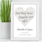 Personalised Wedding Present for Bride & Groom Happily Ever After Wedding Gifts