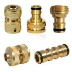 """1/2"""" 3/4"""" Tap To Garden Hose Pipe Brass Connector Kitchen Tap Adapter 7 Types"""