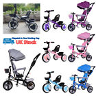 Baby Kids Ride on Trike Tricycle Toddler 3 Wheels Bike with/without Canopy&Push