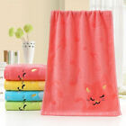 Cat Musical Note Kids Baby Soft Wash Towels Water Absorbing For Home Bath Shower