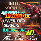 NA EUW EUNE League of Legends Account LOL Smurf 50K-100K BE IP Level 30 Unranked