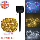 LED Solar String Lights Waterproof 10/20M Copper Wire Fairy Outdoor Garden UK