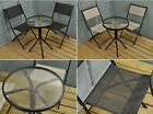 Garden Bistro Set Table and Chairs Small Metal 2 Seater Patio Folding Sets