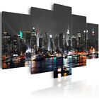 5PCS Huge New York Night Canvas Print Painting Pictures Art Wall Home Decor