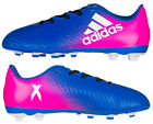 Adidas X 16.4 FxG Football Boots Boys Girls Kid Blue Pink Two Tone New Boxed
