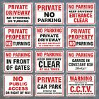 No Parking Signs Private Property Driveway Garage Obstruct Turning Gates Clear
