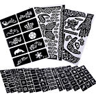 unisex Temporary Glitter Tattoo Stencils Template Body Art Airbrush Henna Kit