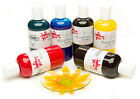 Scola Glass Art Paints Set 7 Colours 150ml Bottles Of Glascol Craft Painting