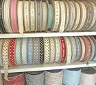 EAST OF INDIA RIBBON GINGHAM/SPOTS/STRIPES DESIGN 99P PER METRE ( ONLY28P P&P)