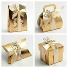 Pelle Gold Wedding Favour Boxes - Luxury DIY Party Christmas Gift. Box Only