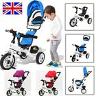 4-in-1 Baby Kids Ride on Trike Tricycle Toddler 3 Wheels Bike with Canopy&Push