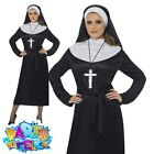 Adult Nun Costume Ladies Sister Act Fancy Dress Sexy Religious Womens Outfit