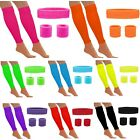 NEON HEADBAND SWEATBANDS/WRISTBANDS LEG WARMERS 80S ACCESSORIES FANCY DRESS SETS