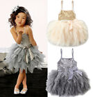 UK Toddler Kids Baby Girl Lace Tutu Dress Princess Party Pageant Flower Dresses
